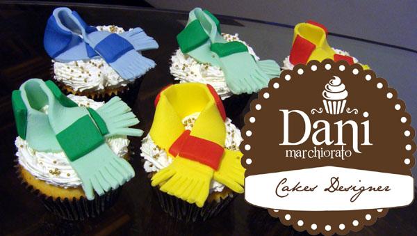 Cupcakes Cachecol com Creme
