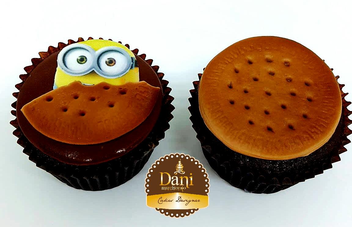 Cupcake Bolacha Minions
