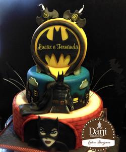 Bolo Batman e Mulher Gato