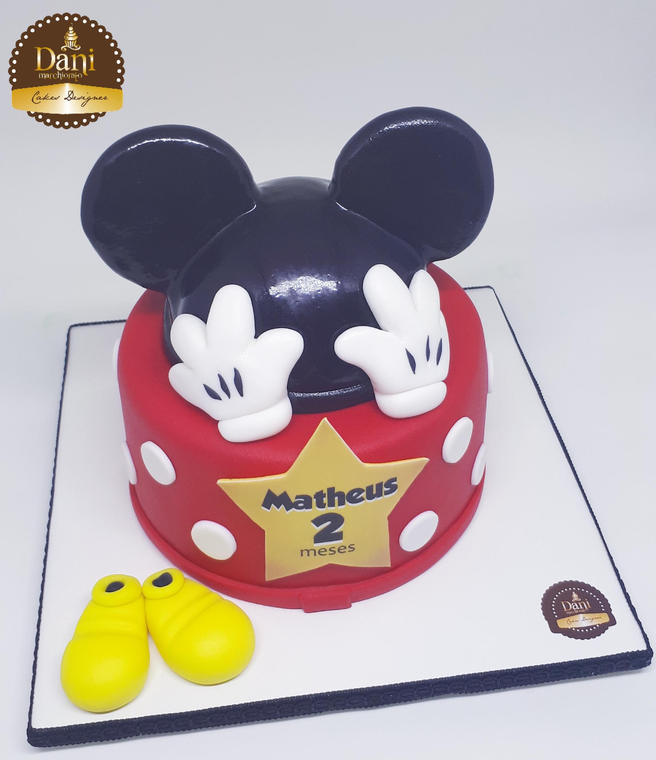 Bolo Mesversário Mickey