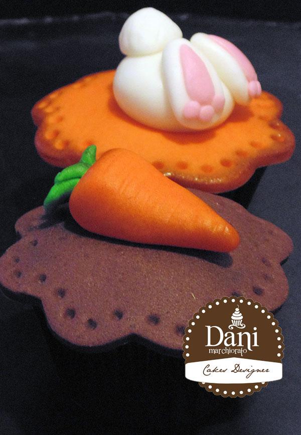 Cupcakes Coelho e Cenoura