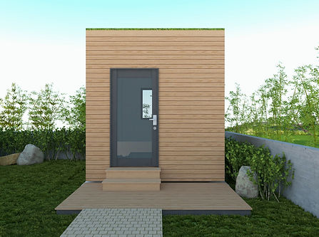 PERSPECTIVE Passive house cabin