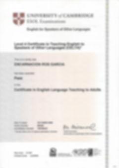 Profesores con certificado Cambridge CELTA