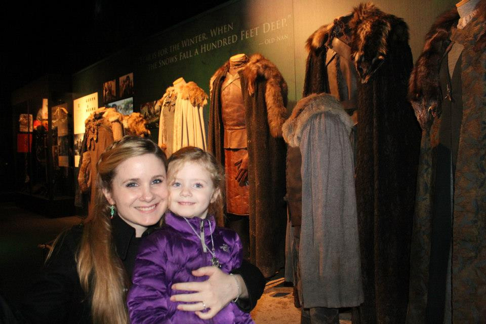 Finn and I explore the Game of Thrones Exhibit in NYC