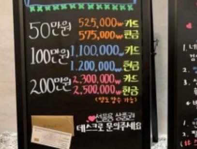 천안 호텔식 마사지 - 입간판