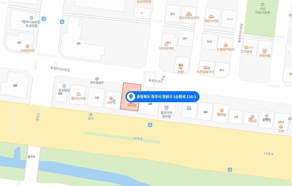 율량동 마사지 구인구직 지도