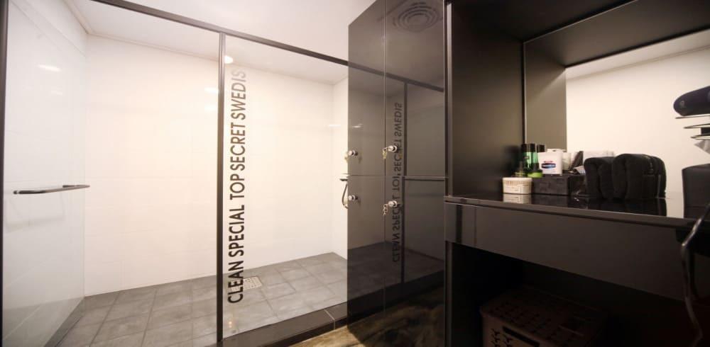 부천 중동 탑시크릿스웨디시 샤워실과 화장대