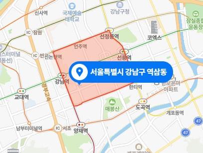 강남 역삼동 소피아테라피 위치