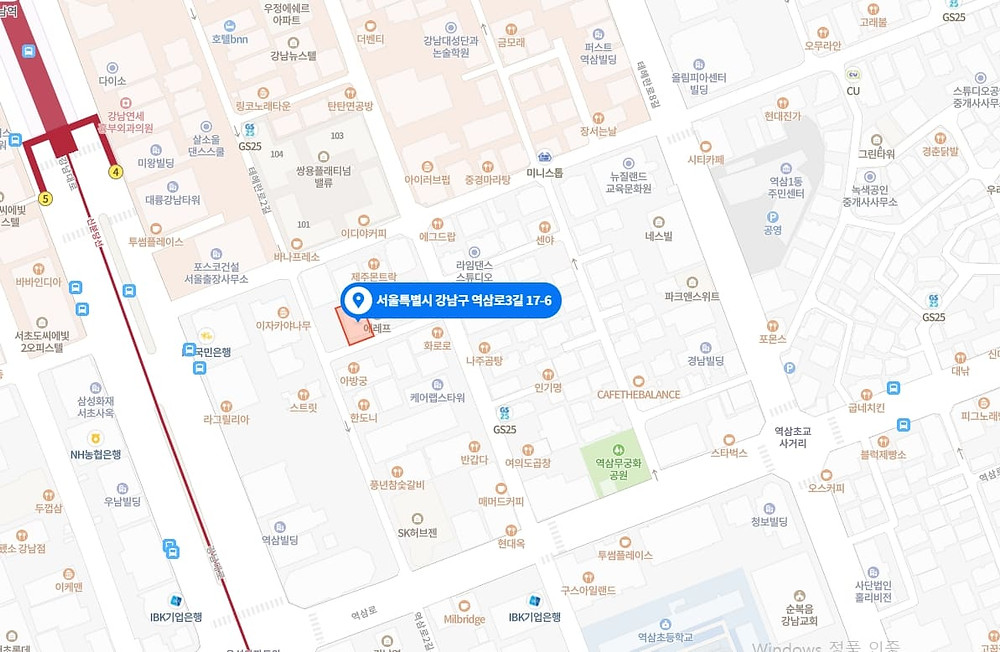 강남역 마사지 구인구직 지도