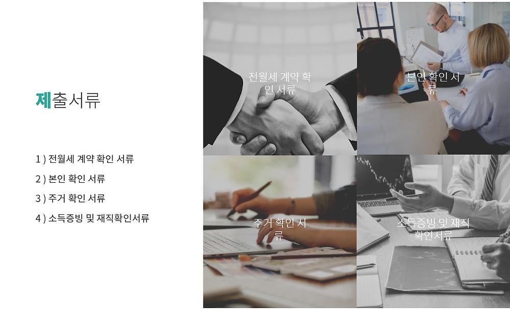 청년맞춤 전월세대출 제출서류