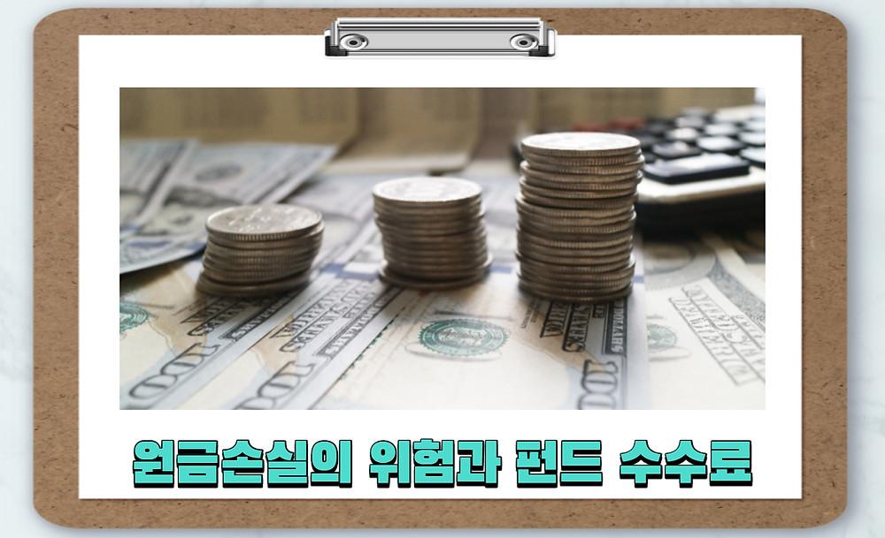 원금손실의 위험과 펀드 수수료