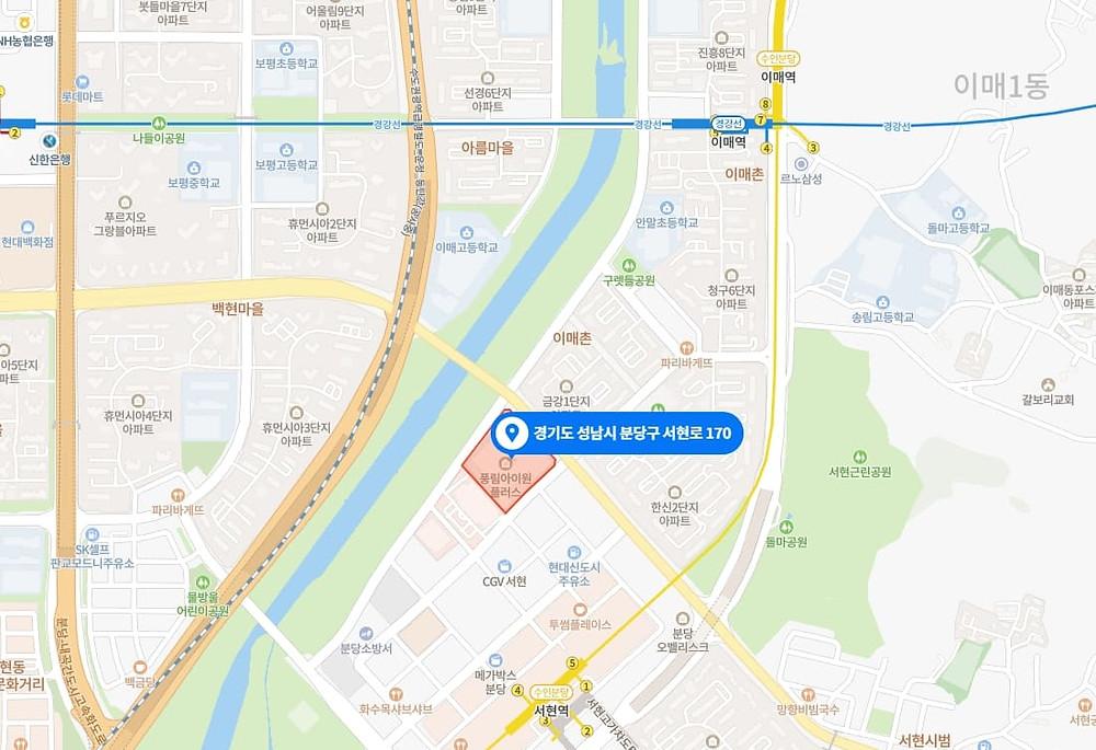 서현역 마사지 구인구직 지도