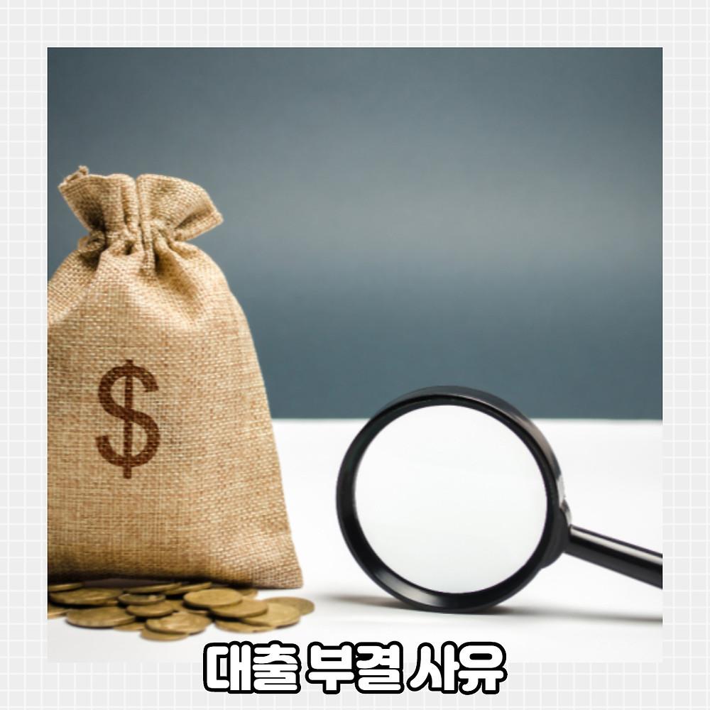 대출 부결 사유