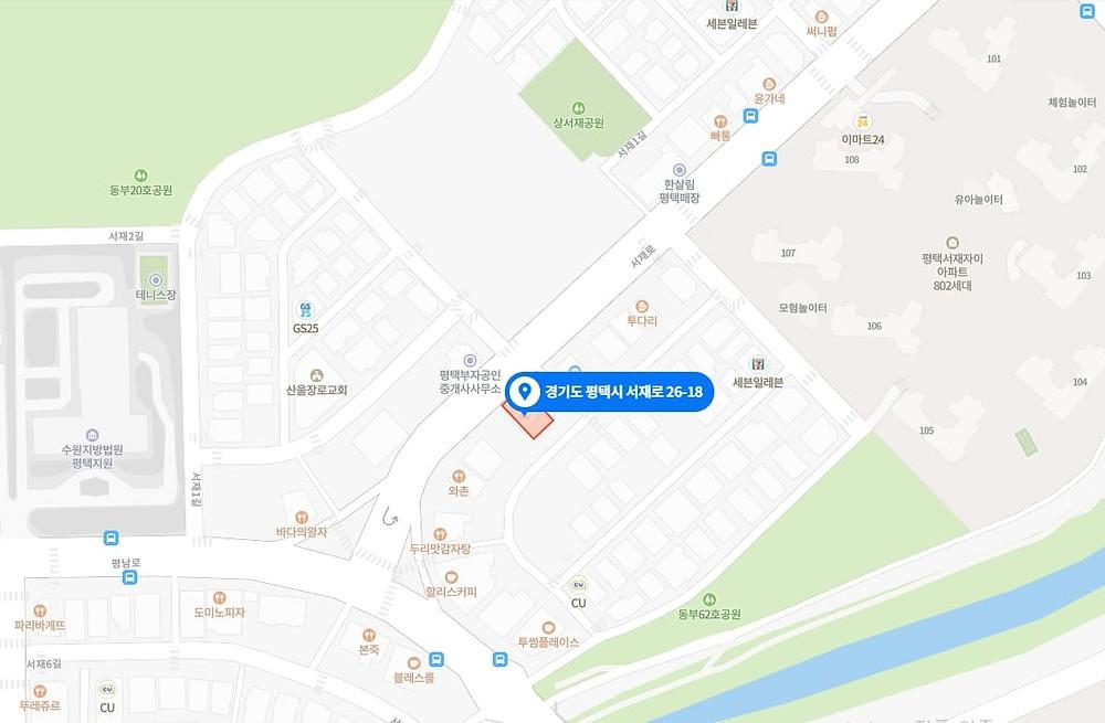 평택 동삭동 창테라피 지도