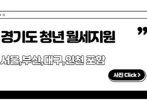경기도 청년 월세지원 정리 [ 서울시,부산,대구,인천 모두 포함 ]