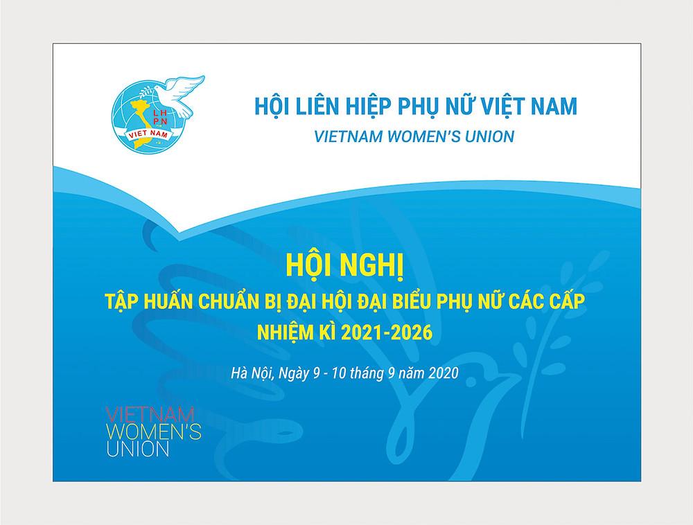 Backdrop Hội Nghị Hội Liên Hiệp Phụ Nữ (LHPN) Việt Nam