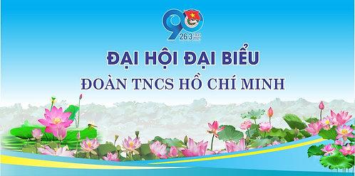 Phông Đại Hội Đoàn TNCS Hồ Chính Minh 90 Năm Vector Corel CDR