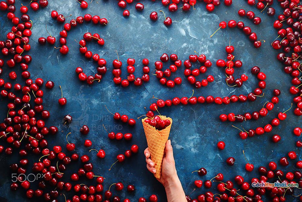Món ăn nghệ thuật quảng cáo ý tưởng chế tác ảnh món ăn mùa hè của dina