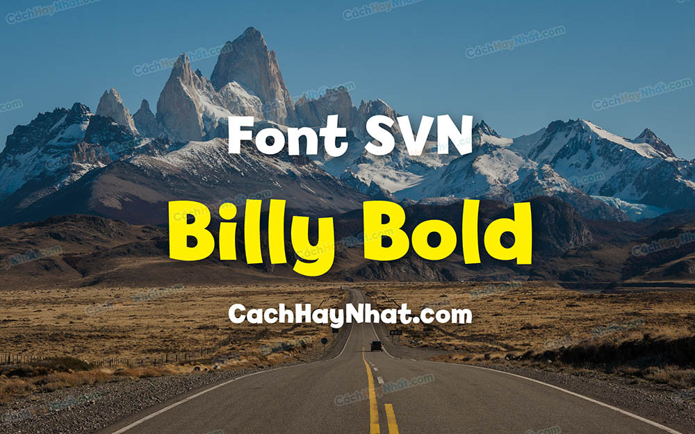 Font SVN Billy Bold Việt Hóa - Font Vui Nhộn