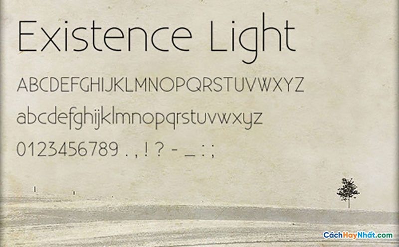 Download Free Font Existence Light
