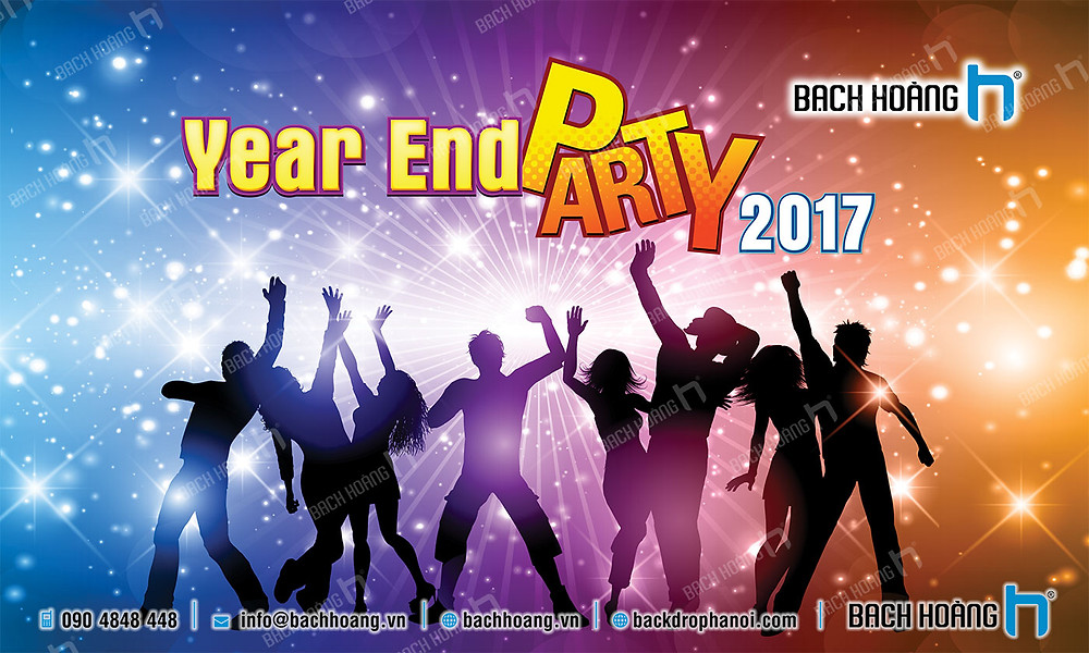 Backdrop Phông Year End Party