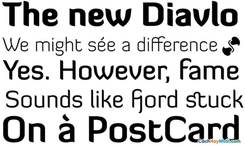 Download Free Font Diavlo