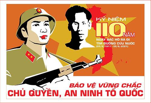 Poster Kỷ Niệm 110 Năm Bác Hồ Ra Đi Tìm Đường Cứu Nước File Vector CDR Corel 04