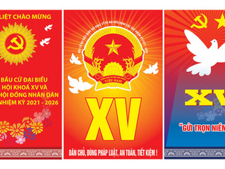 Pano Poster Cổ Động Bầu Cử Vector Corel CDR 04