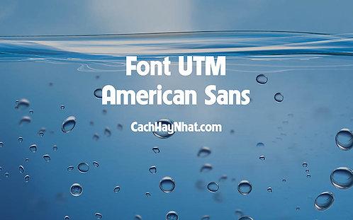Download Font UTM American Sans Việt Hóa