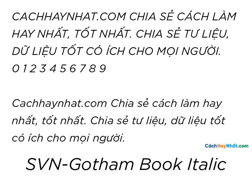 SVN-Gotham Book Italic