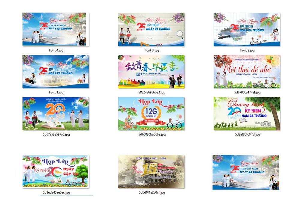 Free Download Mẫu Backdrop Phông Họp Lớp Vector CDR PSD Part01