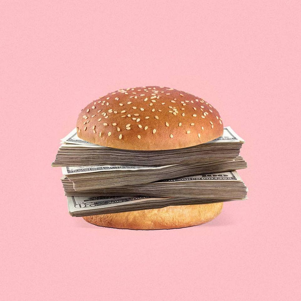 Hình ảnh vui nhộn chế tác burger mohamad kaaki