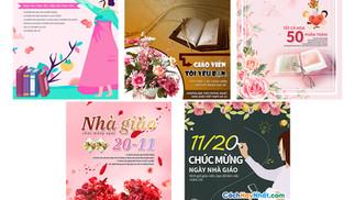 Tải Poster Ngày Nhà Giáo Việt Nam 20/11 PSD Photoshop Part05