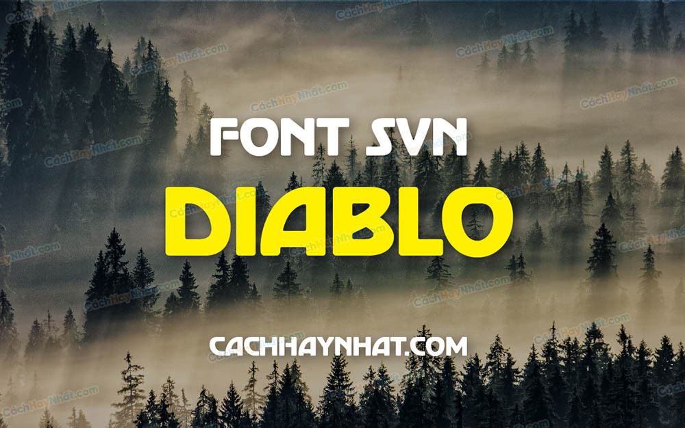 Font SVN Diablo Việt Hóa