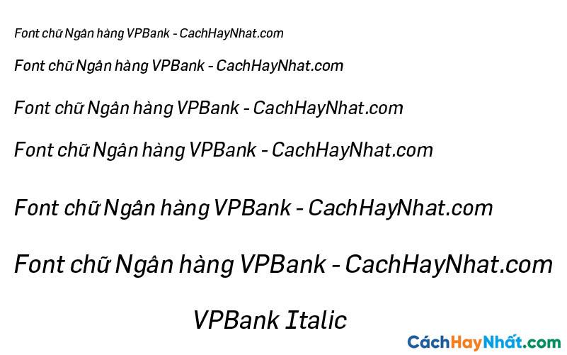 Font VPBank Italic