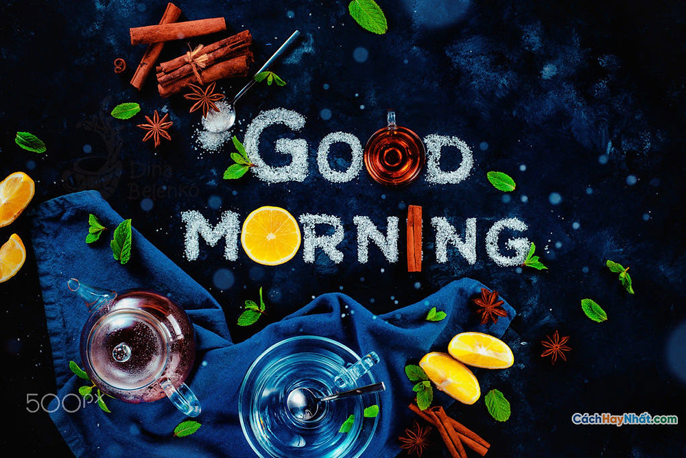 Thực phẩm nghệ thuật quảng cáo ý tưởng chế tác ảnh chào buổi sáng bởi dina