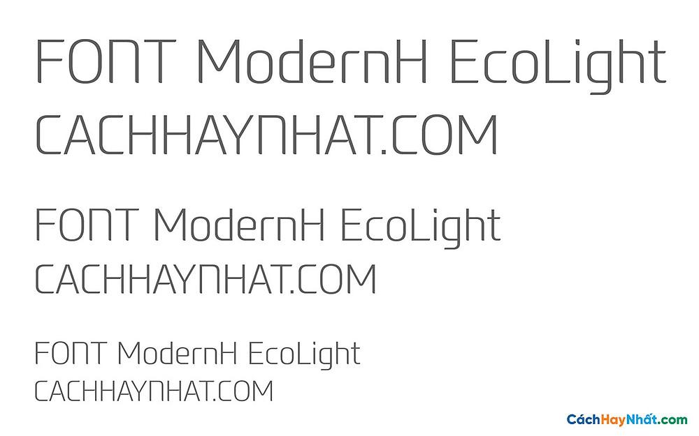 Font ModernH EcoLight