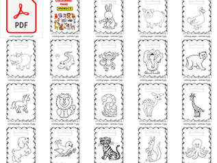 Tập Tô Màu Động Vật Cho Bé File PDF