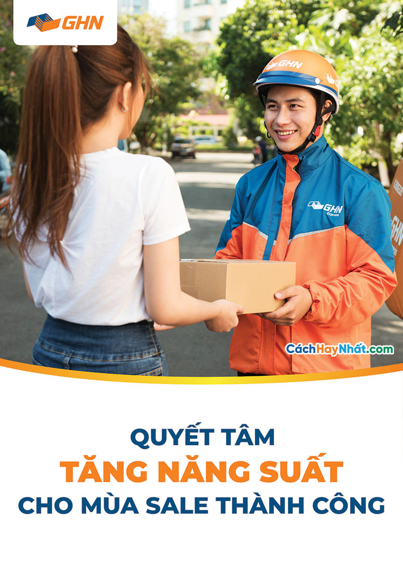 Poster Giao Hàng Nhanh GHN Vector