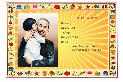 Mẫu Phiếu Khen Cháu Ngoan Bác Hồ Certificate Of Merit to Uncle Ho Vector Free