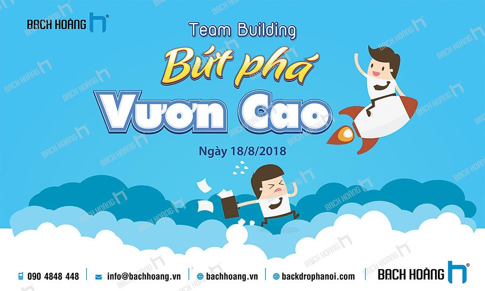 Mẫu backdrop phông Gala Dinner, Team Building đẹp nhất 01