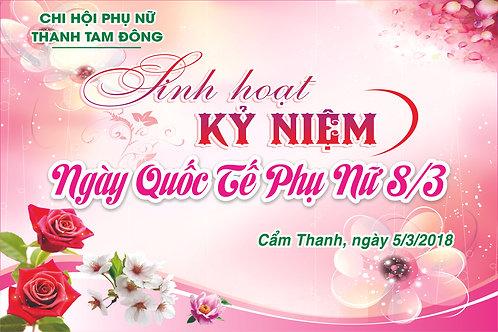Phông Nền Background Ngày Phụ Nữ Việt Nam 20/10 Vector Corel CDR 25