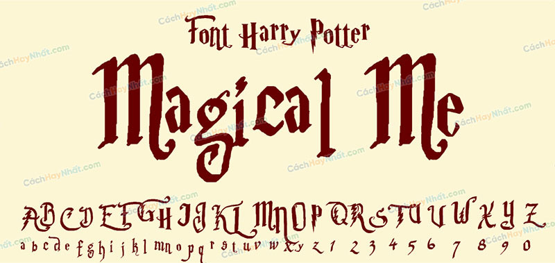 Magical Me font (Parry Hotter font)