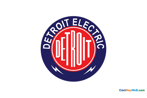 Logo Detroit Electric 3D Vector PDF PNG