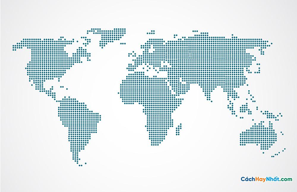 Bản Đồ Thế Giới model of world map points