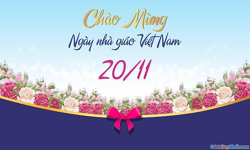 Phông Nền Background Ngày Nhà Giáo Việt Nam 20/11 Vector Corel CDR 05