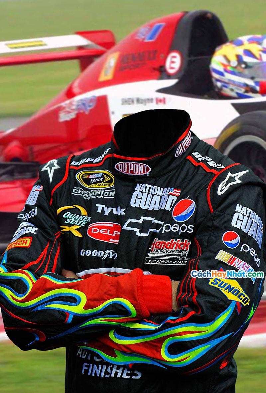 PSD ghép ảnh thể thao đua xe