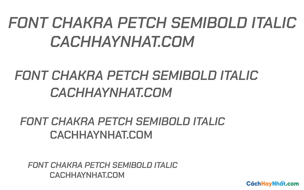 Font Chakra Petch Semibolk Italic