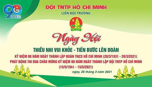 Phông Ngày Hội Đội TNTP Hồ Chí Minh Vector Corel CDR
