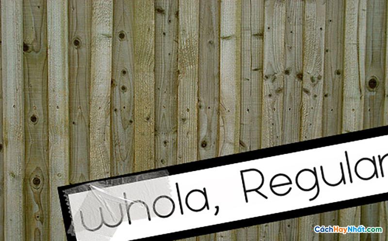 Download Free Font Whola